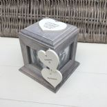 Shabby Chic PERSONALISED Rustic Wood In Memory Of GRANDMA Or ANY NAME Photo Cube - 253968299351